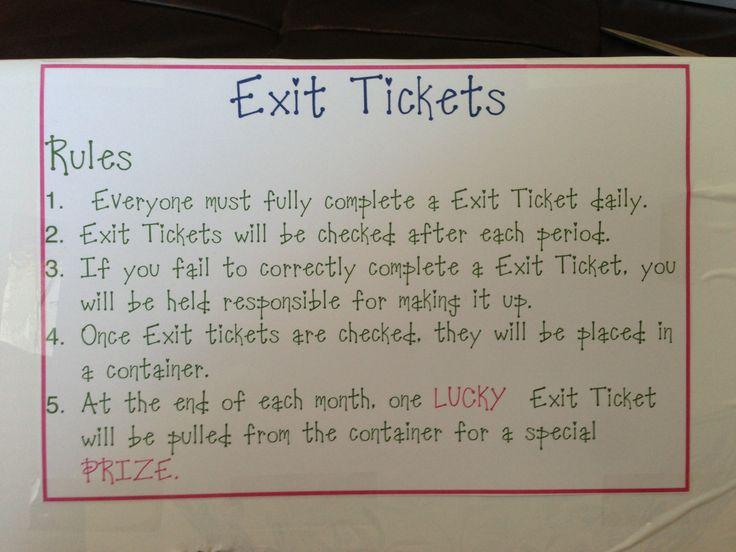exit ticket example