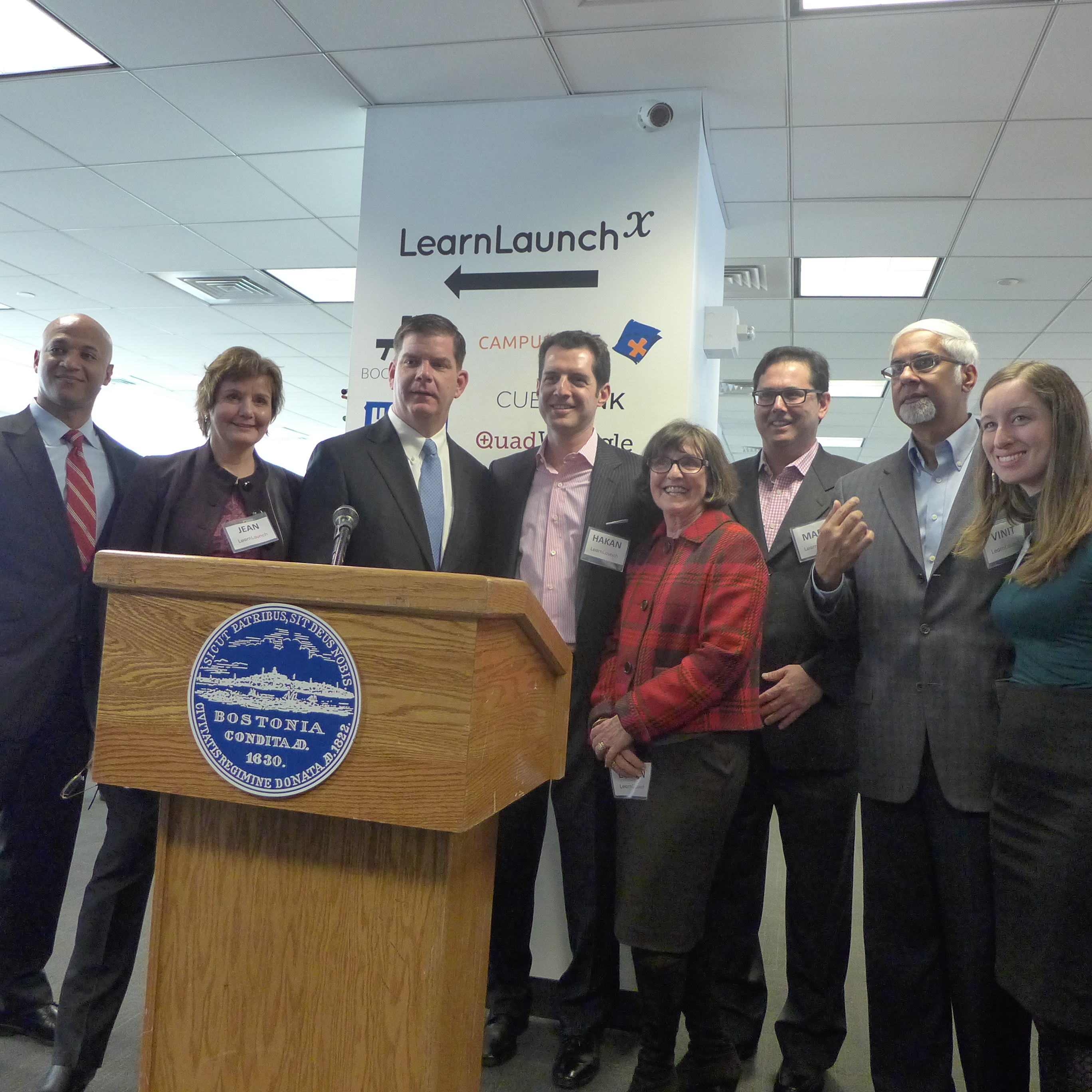 The Boston mayor with LearnLaunch founders