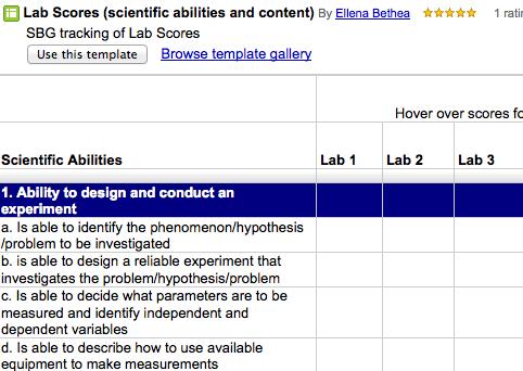 Ms. Bethea standards based grading