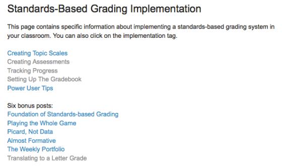Mr. Buell Always Formative standards based grading