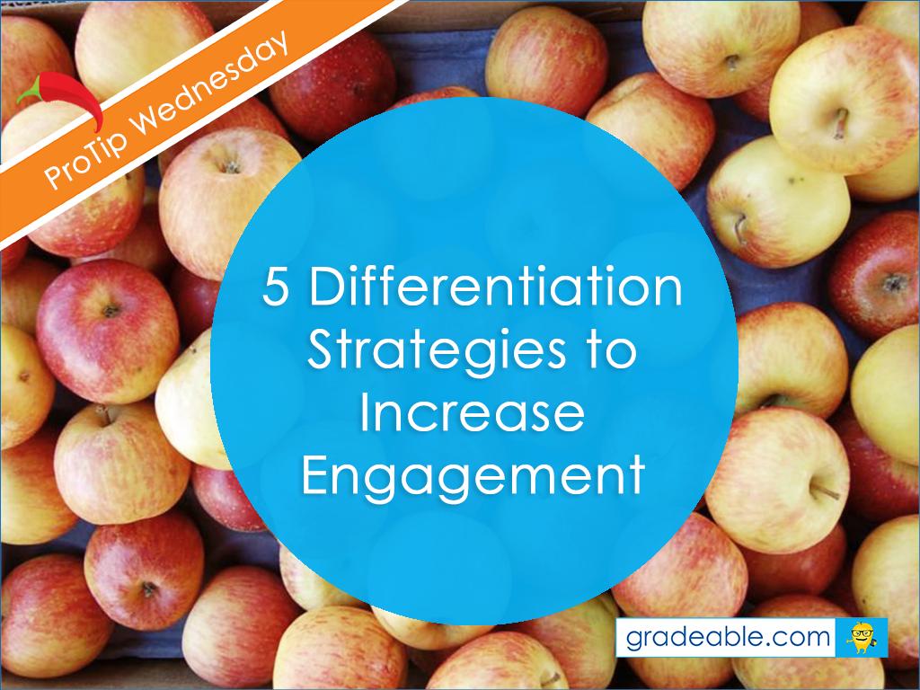 differentiation teaching strategies